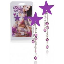 Šperk na bradavky Body Charms Purple Star