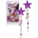 Šperk na bradavky Body Charms Purple Star
