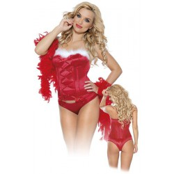 Vánoční korzet a tanga L/Red