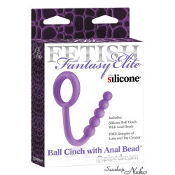 BALL CINCH WITH ANAL BEAD PURPLE